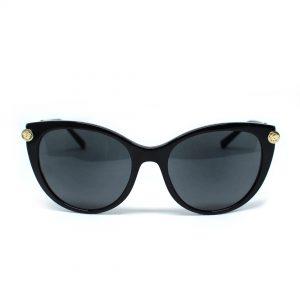 Damskie okulary przeciwsłoneczne włoskiej marki Versace w kolorze czarnym,klasyczny model