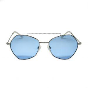 Uniwersalne okulary przeciwsłoneczne Saraghina Eyewear w kolorze niebieskim. Kształt: aviator.