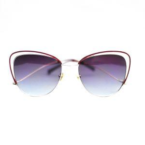 Damskie okulary przeciwsŁoneczne WES w kolorze bordo.
