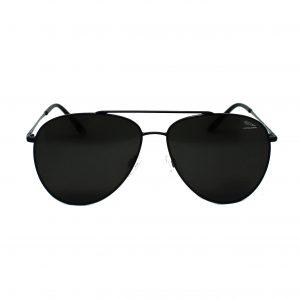 Męskie okulary przeciwsłoneczne marki Jaguar w kolorze czarnym. Aviatory